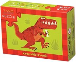 Crocodile Creek  legpuzzel 2-Sided Puzzle/Dinosaur* - 24 stukjes