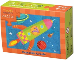 Crocodile Creek  legpuzzel 2-Sided Puzzle/Space* - 24 stukjes