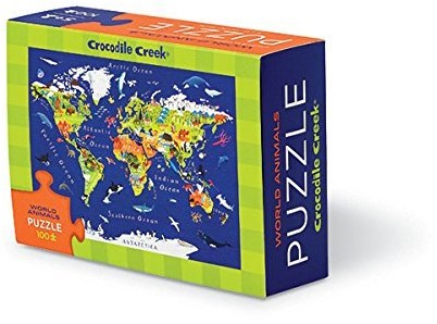 Crocodile Creek  legpuzzel Matchbox Puzzle/World Map - 100 stukjes