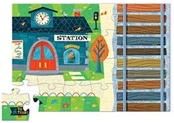 Crocodile Creek  legpuzzel Puzzle & Play/Train Station - 24 stukjes