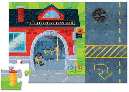 Crocodile Creek  legpuzzel Puzzle & Play/Fire Station - 24 stukjes-2
