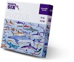 Crocodile Creek puzzel Haaien - 300 stukjes