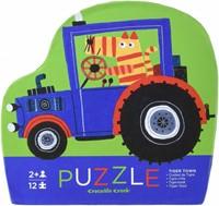 Crocodile Creek legpuzzel Mini Shaped Puzzle/Tiger Town - 12 stukjes-2
