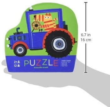 Crocodile Creek legpuzzel Mini Shaped Puzzle/Tiger Town - 12 stukjes