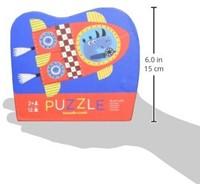 Crocodile Creek legpuzzel Mini Shaped Puzzle/Blast Off - 12 stukjes