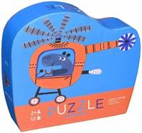 Crocodile Creek legpuzzel Mini Shaped Puzzle/Tiger Town - 12 stukjes-3