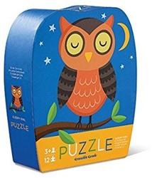 Crocodile Creek legpuzzel Mini Shaped Puzzle/Sleepy Owl - 12 stukjes