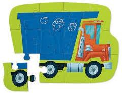 Crocodile Creek legpuzzel Mini Shaped Puzzle/Dump Truck - 12 stukjes