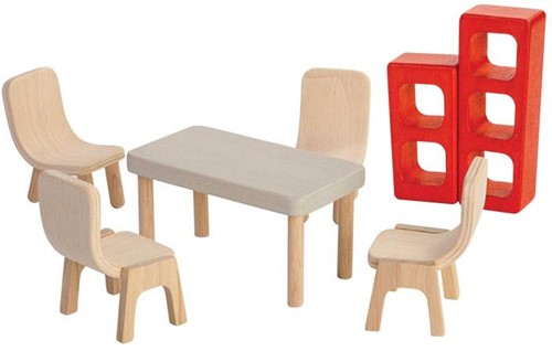 Plan Toys  houten poppenhuis meubels Dining Room