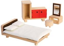 Plan Toys houten poppenhuis meubels Parents Room