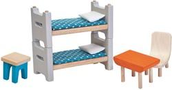 Plan Toys houten poppenhuis meubels Kinderkamer