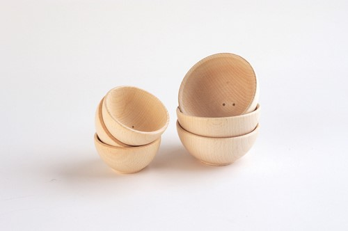 TickiT Wooden Bowl 70Mm