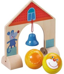 Haba  houten knikkerbaan accessoires Rollebollen Belletjespoort 300853
