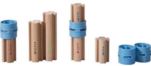Haba  houten knikkerbaan accessoires Rollebollen Zuilen 300850-1