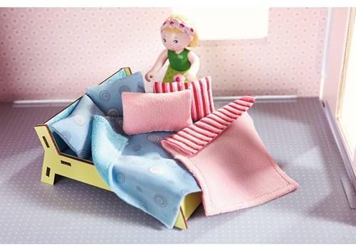 HABA Little Friends - Accessoires voor poppenhuis Kussens en dekens-3