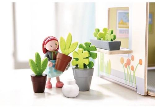 Haba  Little Friends poppenhuis accessoires Bloemen en Planten-2
