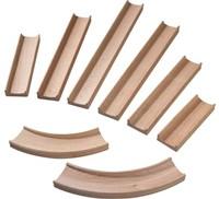 Haba  houten knikkerbaan accessoires Rollebollen Rechte baanstukken en bochten 300851-1