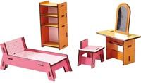 Haba  Little Friends houten poppenhuismeubels Slaapkamer