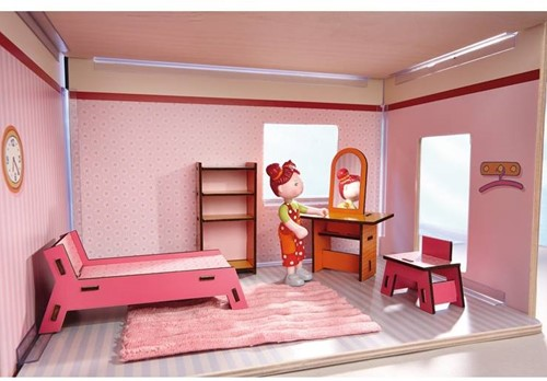 Haba  Little Friends houten poppenhuismeubels Slaapkamer-2