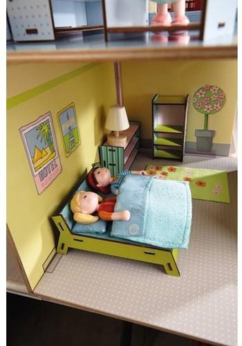 Haba  Little Friends houten poppenhuismeubels Slaapkamer dubbelbed