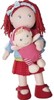 Haba  Lilli and friends knuffelpop Pop Rubina met baby - 30 cm en 12 cm-1