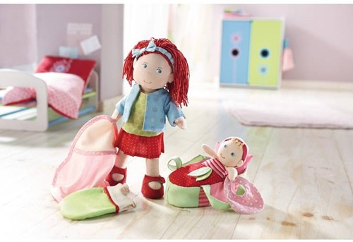 Haba  Lilli and friends knuffelpop Pop Rubina met baby - 30 cm en 12 cm-3