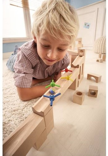 Haba  houten knikkerbaan accessoires Uitbreiding Propellerhelling-2