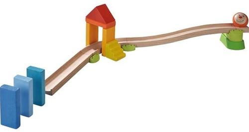 Haba  houten knikkerbaan set Rollebollen Basisdoos Buitelbaan-2