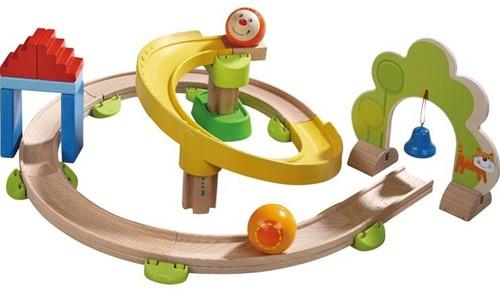 Haba houten knikkerbaan set Rollebollen Basisdoos Spiraalbaan-1