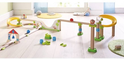 Haba  houten knikkerbaan accessoires Rollebollen Rechte baanstukken en bochten 300851-3