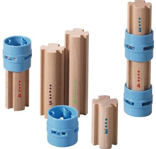 Haba  houten knikkerbaan accessoires Rollebollen Zuilen 300850-3