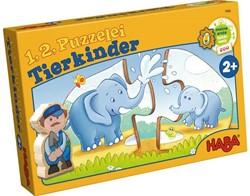 Haba  legpuzzel 1, 2 puzzel mee - Dierenkinderen - 2 x 10 stukjes