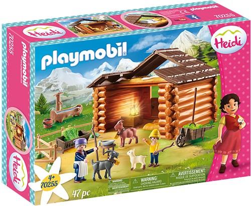 Playmobil Heidi - Peter met grootmoeder bij de geitenstal 70255