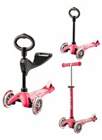 Micro Mini Step 3in1 Deluxe roze