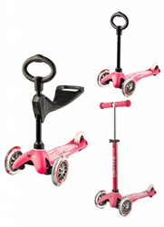Micro Mini Step 3in1 Deluxe roze