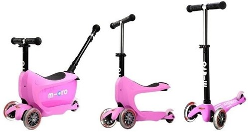 Micro  Mini loopfiets Mini2go Deluxe Plus roze