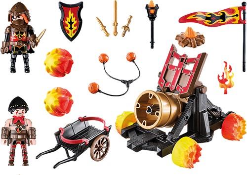 Playmobil Novelmore - Burnham Raiders lavabombardement  70394