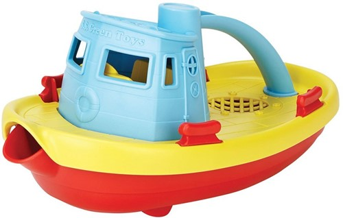 Green Toys Tugboat - BLUE HANDLE