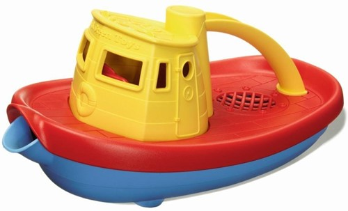 Green Toys - Sleepboot Geel