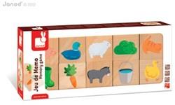 Janod houten kinderspel Boerderij memory