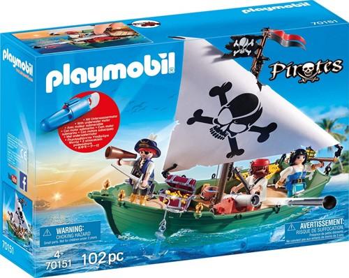 Playmobil Pirates - Piratenschuit met onderwatermotor 70151