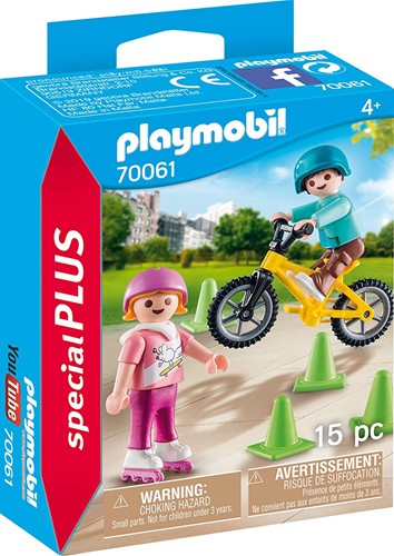 Playmobil Special Plus - Kinderen met fiets en skates 70061