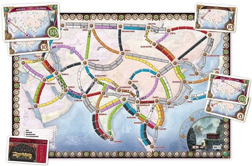 Days of Wonder bordspel spel Ticket to Ride - Azie-2