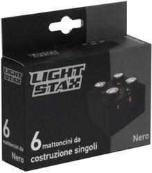 Light Stax  constructie speelgoed Zwart 2x2 - 6 stuks