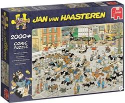 Jumbo Jan van Haasteren puzzel De Veemarkt - 2000 stukjes