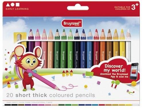 Bruynzeel  teken en verfspullen 20 kleine dikke potloden