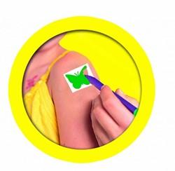 Ses  teken en verfspullen tattoostiften 4 kleuren