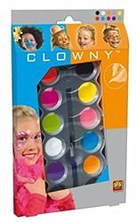 Ses  Clowny verkleedkleren aqausmink 10 kleuren trendy