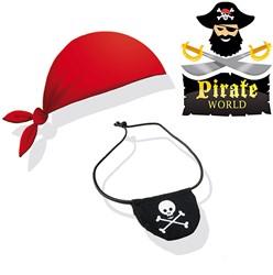 Ses  Clowny verkleedkleren Piraten bandana + ooglap