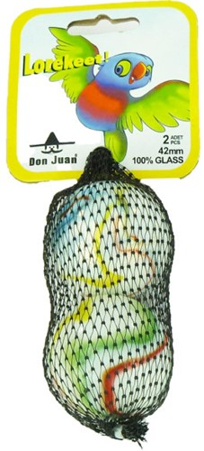 Don Juan  buitenspeelgoed Knikkers Lorekeet 42mm
